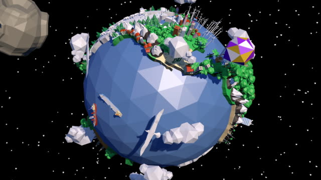 low poly earth - topografie stock-videos und b-roll-filmmaterial