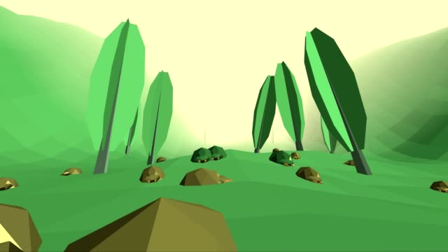 Low poly retro style bug world video