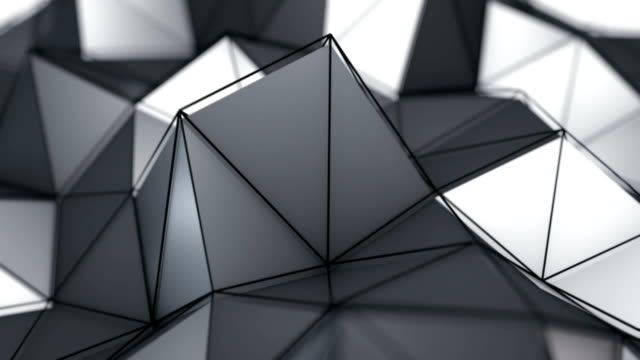 Low poly surface moving seamless loop 3D render video