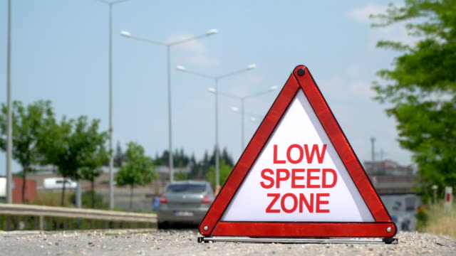 Low Speed Zone - Traffic Sign
