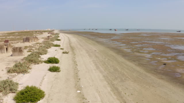 AERIAL Low tide on the Masirah Island