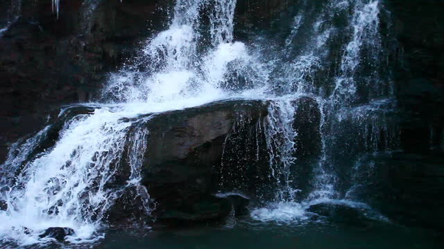 Lower Chedoke Falls view in Ontario, Canada video