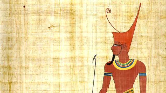 Lower Egypt Pharaoh In A Papyrus Background video