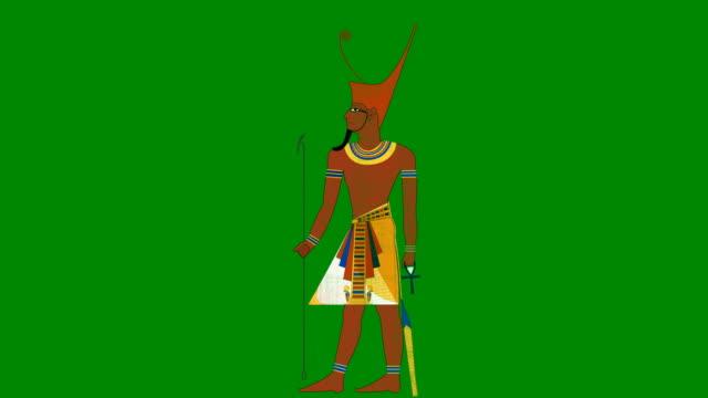 グリーン スクリーン背景の下エジプトのファラオ - 過ぎ越しの祭り点の映像素材/bロール