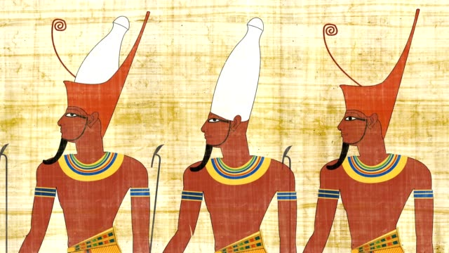 Lower Egypt Upper Egypt And All Egypt Pharaohs On A Papyrus video