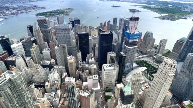 Lower Manhattan Aerial View New York City video