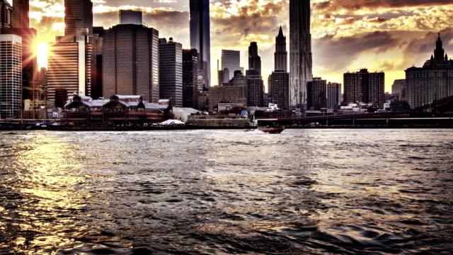 Lower Manhattan skyline video