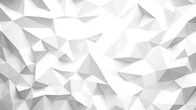 lowpoly umzulegen 3d-rendering metallischen background.4k video. - architektur stock-videos und b-roll-filmmaterial