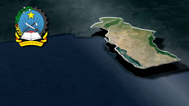 Luanda with Coat of arms animation map video