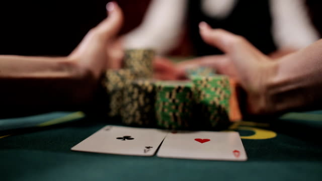 Luckiest girl moves your winnings. The poker game ended with a lucky player. video