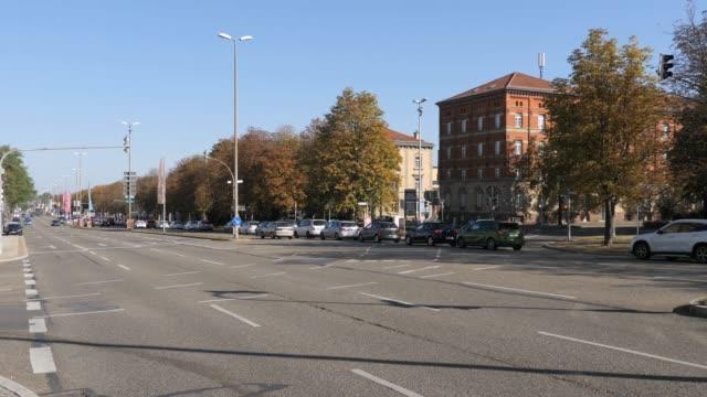 Ludwigsburg main boulevard- pan left video