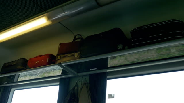 Luggage on Train Car