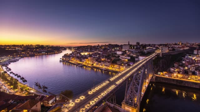 Luis I Bridge, Porto at Sunset - Time Lapse