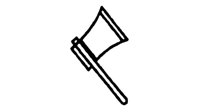 Lumber Industry Sketch Line Icon Animation