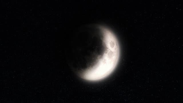 lunar phases - полумесяц форма предмета стоковые видео и кадры b-roll