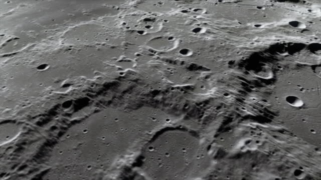 Lunar Surface Very close flight over the lunar surface. Computer animation based on Nasa footage. moon stock videos & royalty-free footage