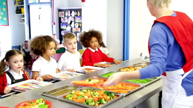 lunch time children - primary school stock videos and b-roll footage