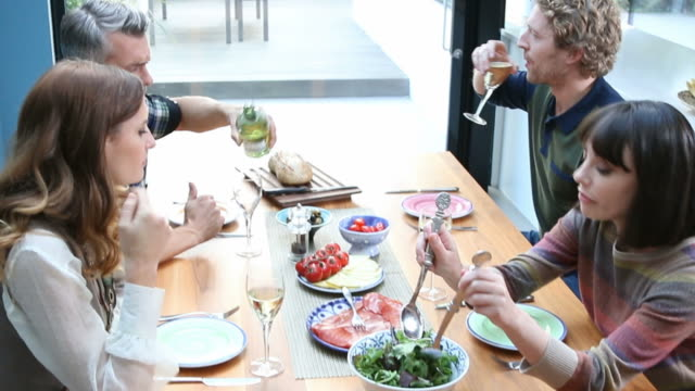 Lunch with friends. video