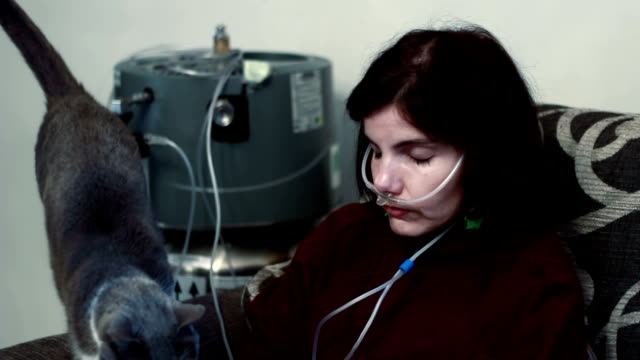 lung diseases sad woman with Lung Diseases emphysema stock videos & royalty-free footage