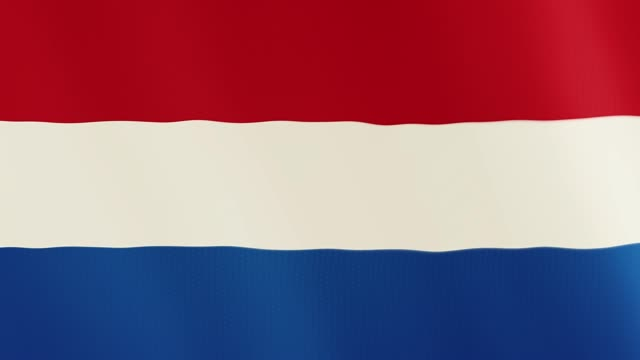 Luxembourg flag waving animation. Full Screen. Symbol of the country video