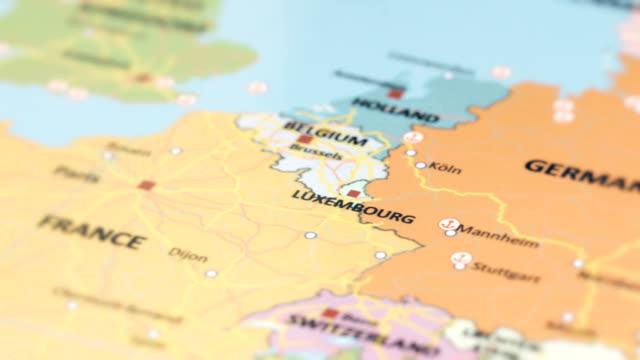 vidéos et rushes de l'europe luxembourg sur la carte du monde - carte france