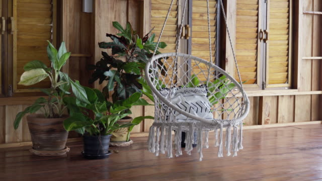 Luxury bespoke indoor boho hanging chair