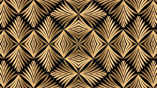Luxury black and golden geometric pattern