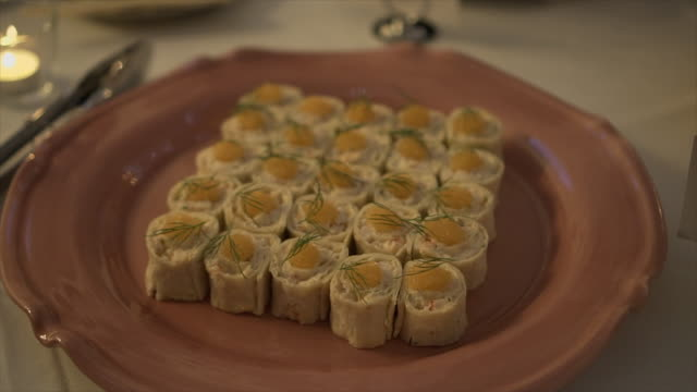 Luxury Catering Food - Stock video