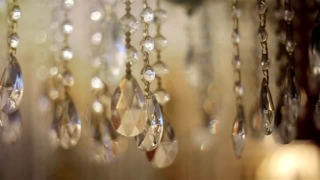 Luxury crystal chandelier,close up video