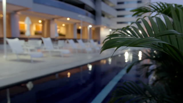 Luxury Hotel Pool at Night video