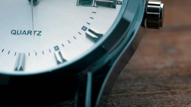 Luxury men's watch close up video