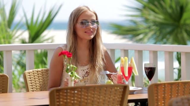 Luxury resort hotel restaurant food service video