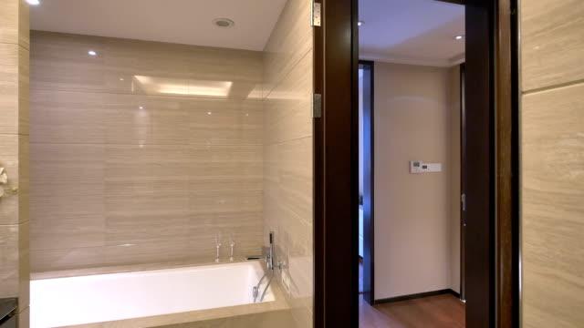 luxury sample bathroom interior and decoration,real time. luxury sample bathroom interior and decoration,real time. post modern architecture stock videos & royalty-free footage