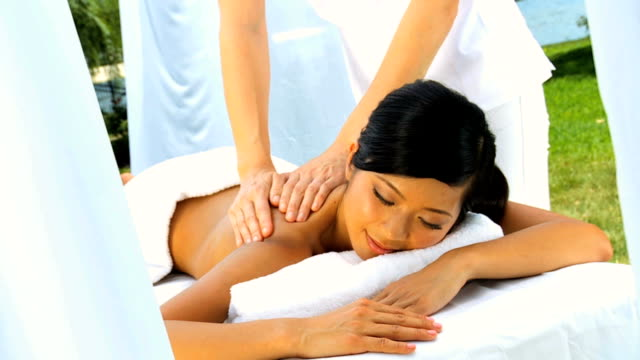 Luxury Spa Client Enjoying Massage Therapy video