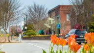 istock Luxury SUV Driving into Beautiful Downtown Hendersonville, NC 511741717
