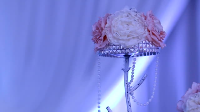 luxury wedding flowers decoration - триллиум стоковые видео и кадры b-roll