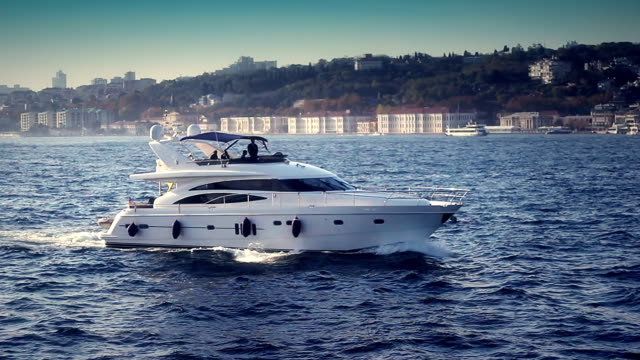 luxury yacht - affluent lifestyles stock videos & royalty-free footage
