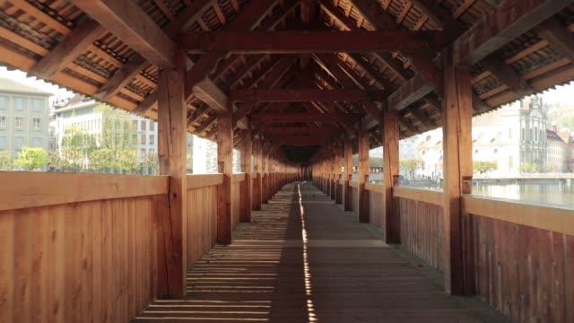 Luzern empty bridge frontal dolly