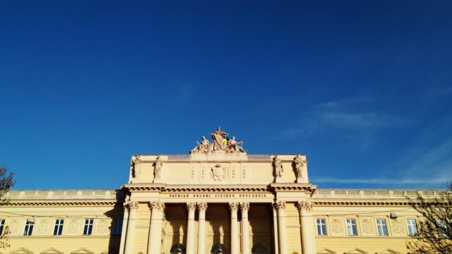 lviv university - neoclassical architecture stock videos & royalty-free footage