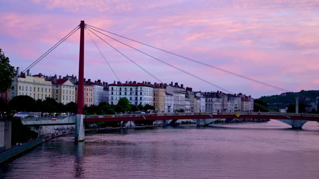 Lyon, France at sunset