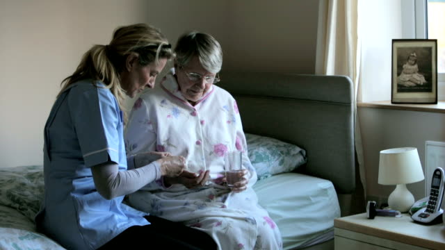 i'm here to help you. - senior care stock videos and b-roll footage
