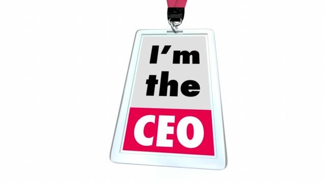 i'm the ceo chief executive officer badge top leader management - badge video stock e b–roll