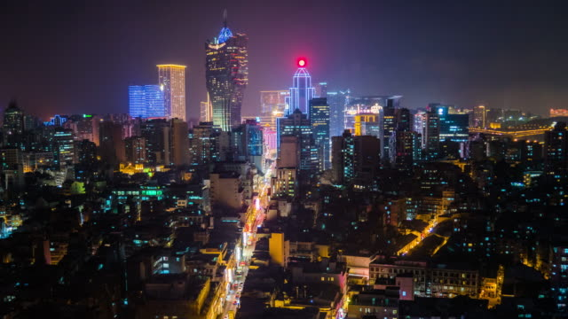 macau cityscape at night time video