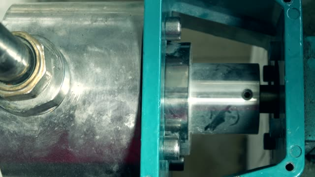Machine engine water filter pipes in factory water video