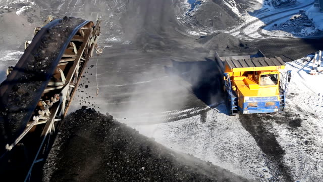 Machine for loading coal video