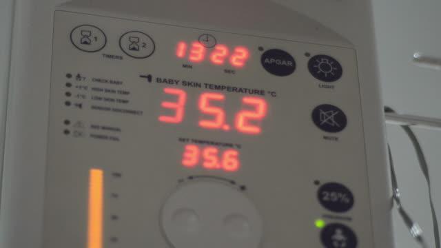 Machine Infant warmer in hospital video
