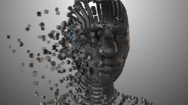 Machine intelligence Artificial intelligence AI deep learning technology 3D render. Artificial intelligence AI deep learning computer program technology also known as machine intelligence (MI) is intelligence exhibited by machines. deep stock videos & royalty-free footage