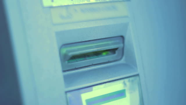 ATM machine  gold card stock videos & royalty-free footage