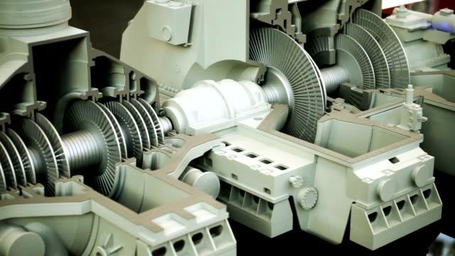 maskinproduktion. breadboard modell av turbin. hd - generator bildbanksvideor och videomaterial från bakom kulisserna
