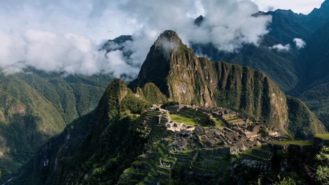 machu picchu - timelapse series - south america travel stock videos and b-roll footage